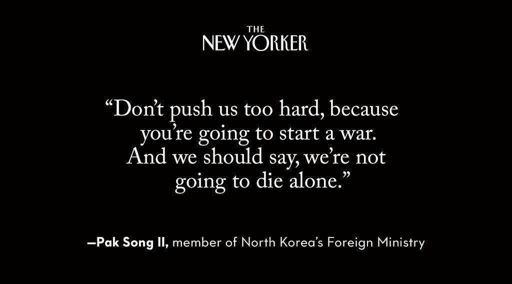 Could Kim Jong Un and Donald Trump goad each other into a devastating confrontation? https://t.co/lkde4JjLbx