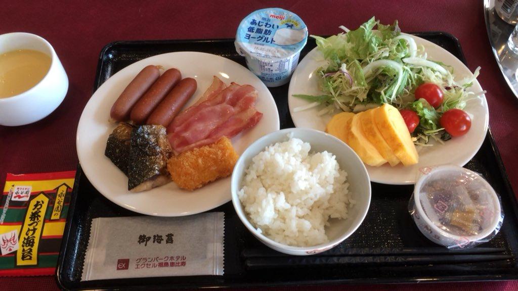 しっかり朝食も食べて、仙台へ  朝食にお茶漬けがあるのは嬉しい!  #noah_...