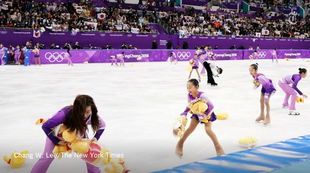 'Flower kids,' skaters in charge of clearing the ice, are stealing the show https://t.co/Yt1WAlo2Hh https://t.co/hFA5diAZLZ