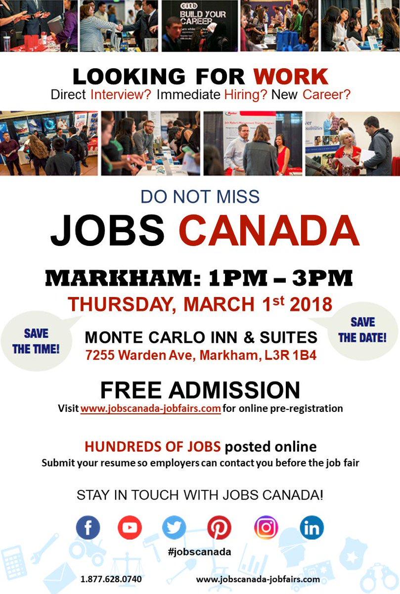 Jobs Canada Jobscanadafair Twitter