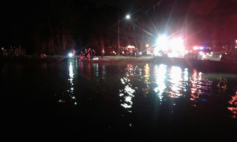BREAKING | Beaumont Police officers are awaiting the arrival of a Beaumont Fire Department dive team to determine if a car that has gone into a north Beaumont canal was occupied
