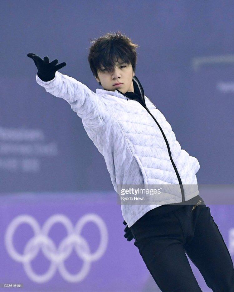 "Shoma's in exibition practice ""See you again""  #ShomaUNO #宇野昌磨 #PyeongChang2018"