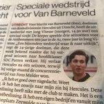 Vandaag ook in de papieren editie van #ADUN: Wedstrijd tegen Jong Vitesse is speciaal voor @martinbarneveld, doelman van @usvHercules