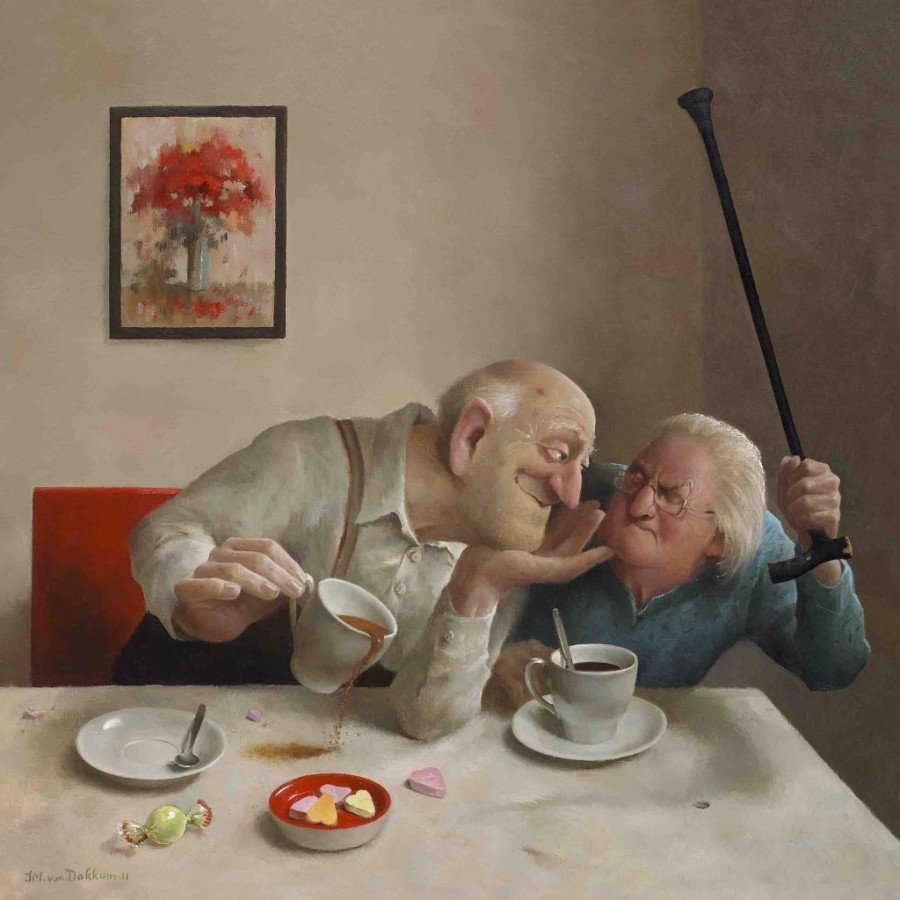 Смешные картинки про деда с бабкой, смешным