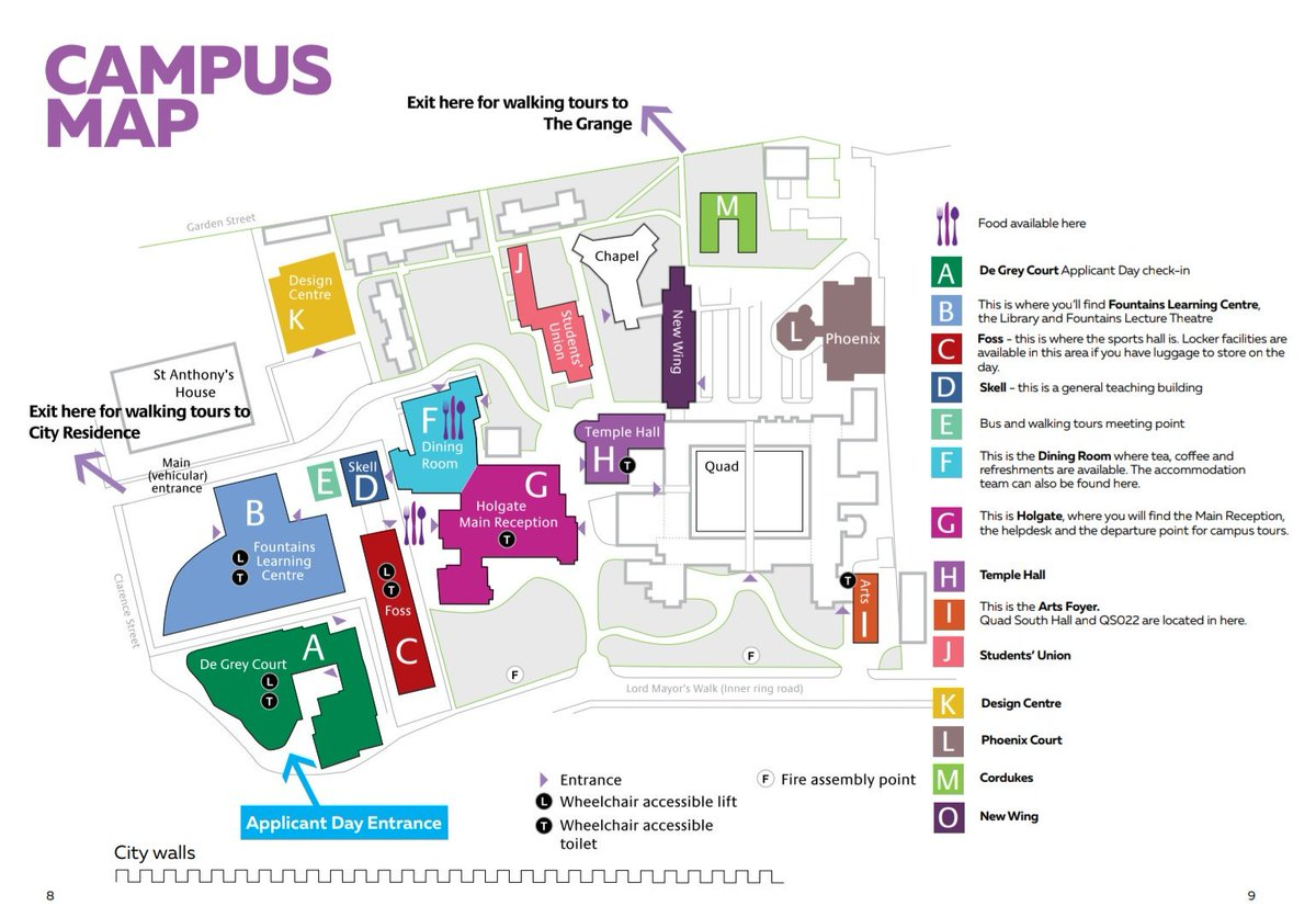 St Johns Campus Map.York St John University On Twitter Your Applicant Day Programme