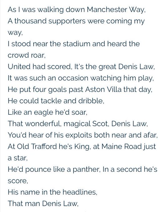 Happy birthday to the original king of Old Trafford Denis Law