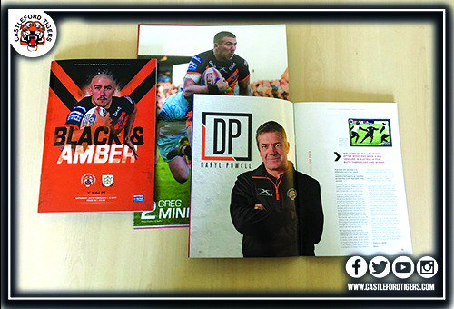 Pick up a copy of today's match day programme! 📚  Inside you'll find an exclusive interview with @greg_minikin and our weekly columns written by Daryl Powell, Steve Gill and @mshenton22 🖊️  We've also got plenty of junior fun for our younger fans inside 🐯