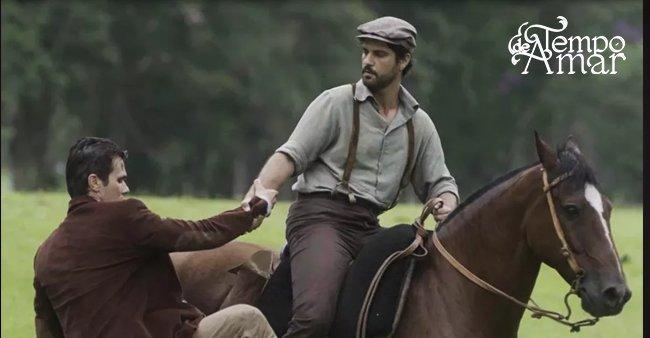 Delfina prepara cavalo arisco para Vicente, e Inácio o salva  https://t.co/pLMYRhfFjY #TempoDeAmar