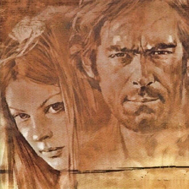#LynneFrederick and #FabioTesti in #fouroftheapocalypse #iquatrodellapocalissee #westernfilm #spaghettiwestern #EnglishRose #classicalhollywood #classicmovies #beautiful #OTPpic.twitter.com/TMbE5Bdg7V