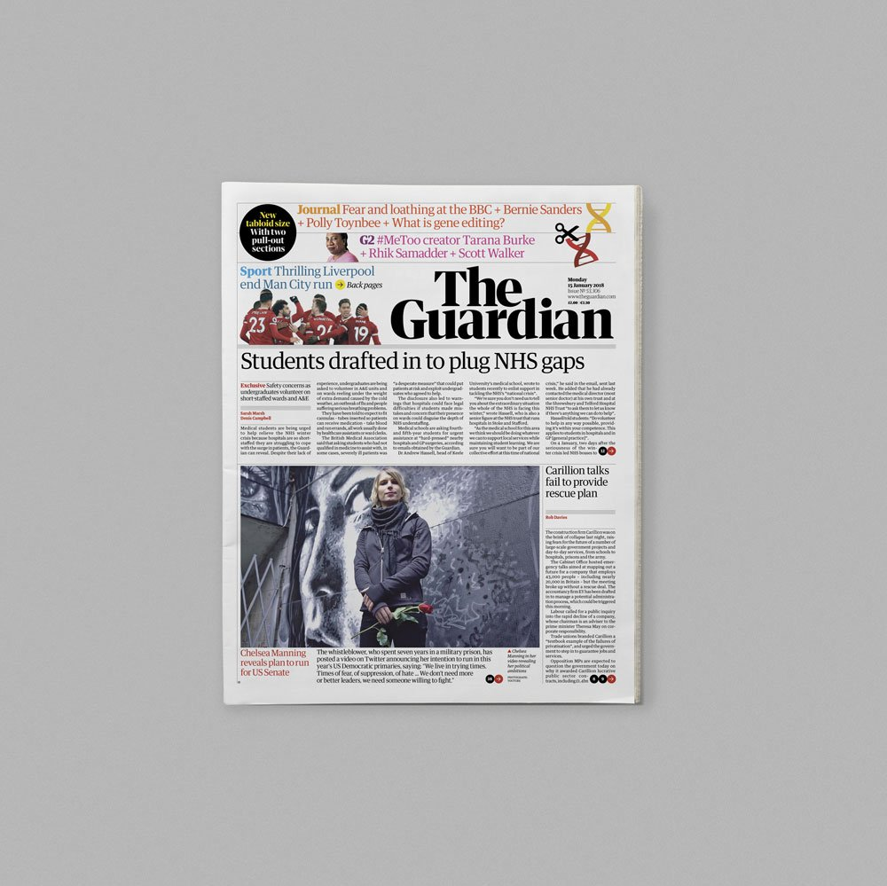 'The Guardian introduces tabloid format and redesigns all platforms': https://t.co/e8ZzK2bm8U