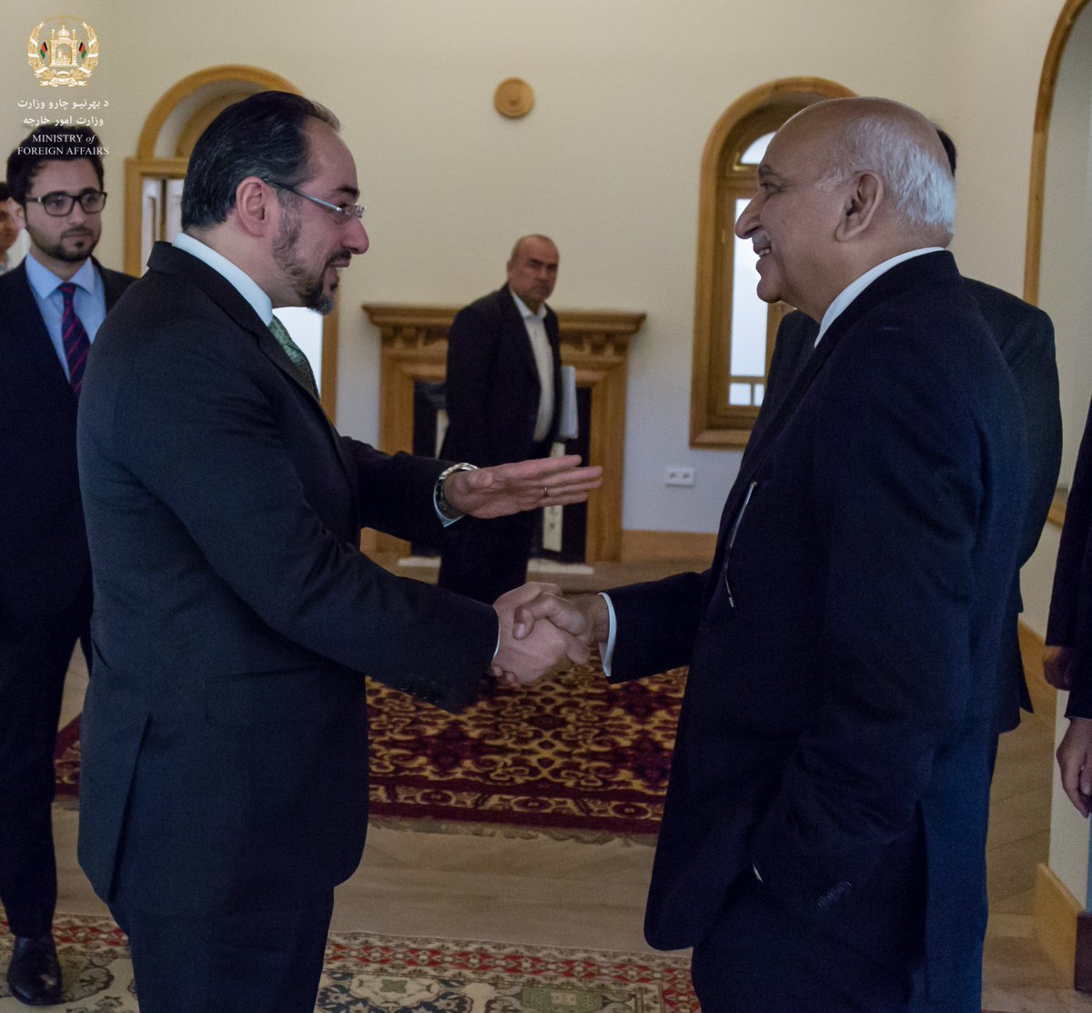 Afghan Foreign Minister Meets Indian Minister of State for External Affairs go.mfa.af/1932