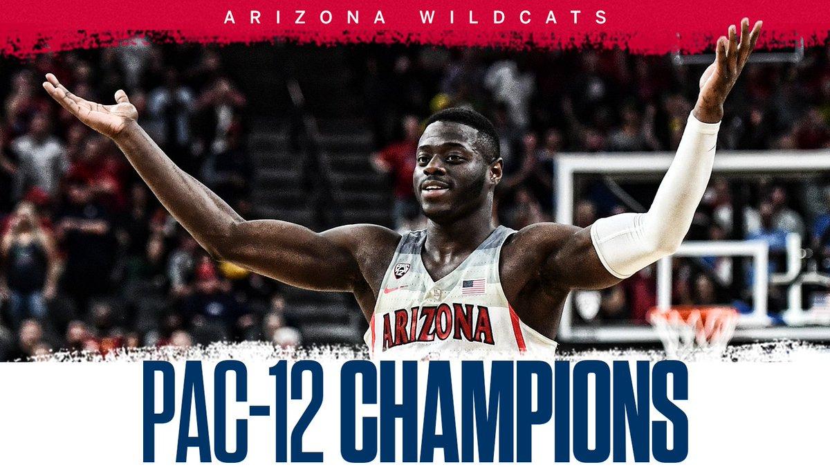 Bear. Down. 🐻   Arizona defeats USC to claim its 7th Pac-12 Tournament title!