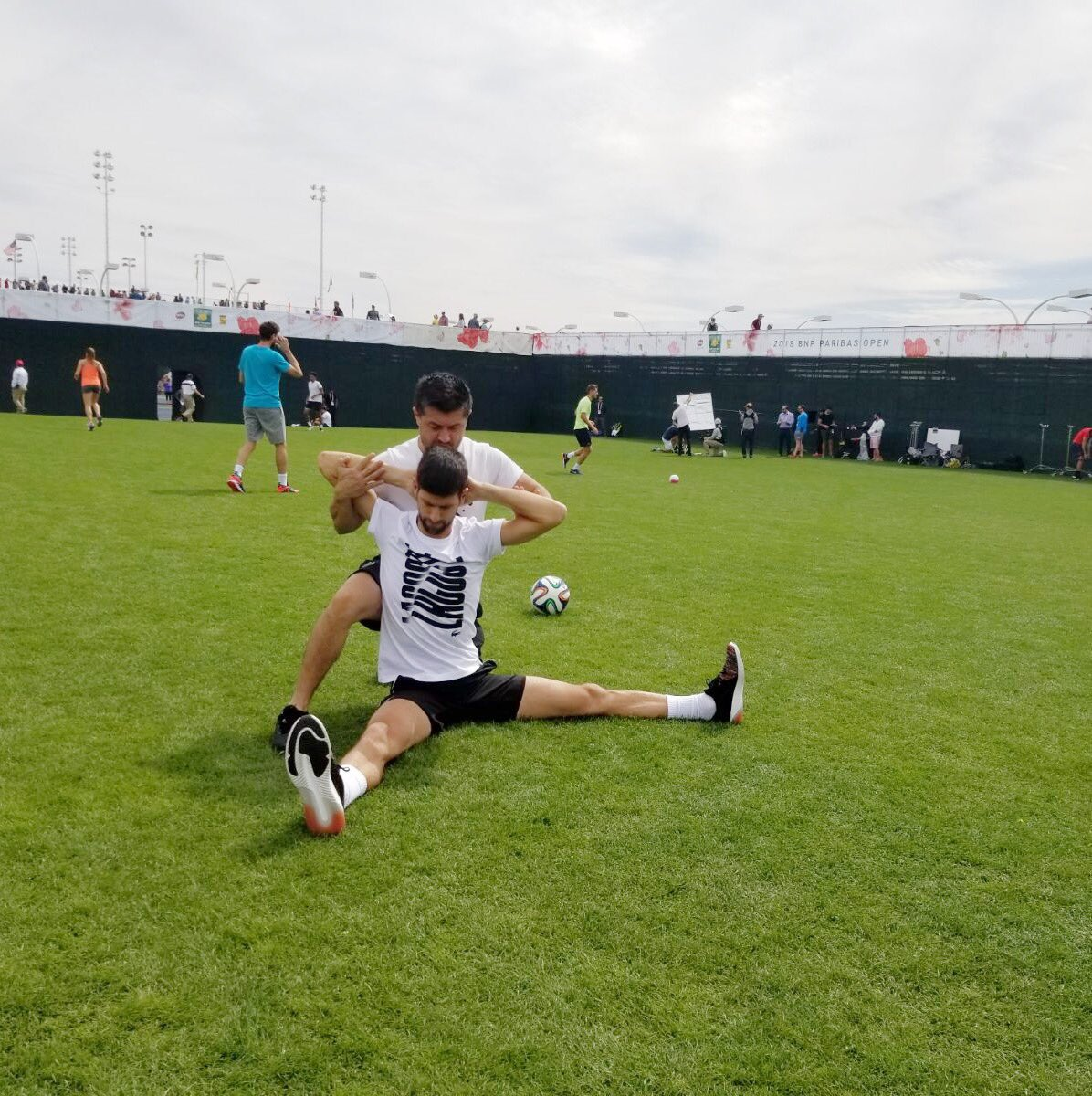 Your guy is BACK (and more flexible than ever). Tomorrow. Let's get it 👊🎾 #NoleFam #TennisParadise #FullBloom