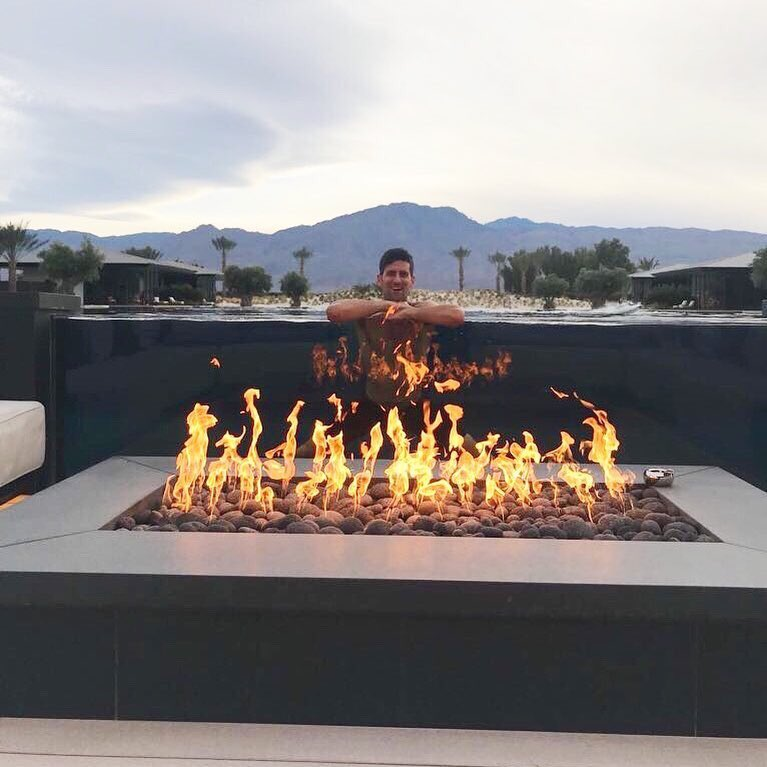 Who else is ON FIRE this weekend? @D_Copperfield I know your trick and I have more up my sleeve. Coming to steal your show in Las Vegas. Be ready. 🔥 #noleonfire