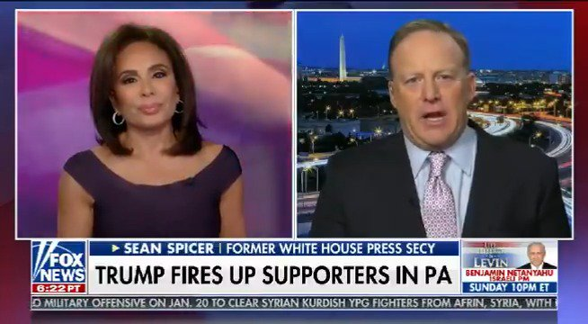 @seanspicer joined me with reaction to President Trump's PA rally speech tonight. Take a look: https://t.co/slCLqf5A2F