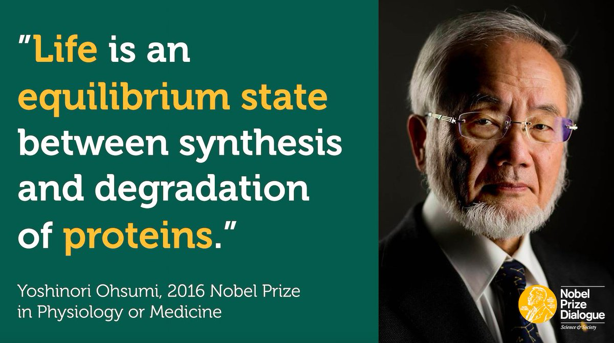 "Yoshinori Ohsumi sharing his insight about his #NobelPrize awarded work on autophagy - ""self-eating"" - at The Nobel Prize Dialogue Tokyo meeting on The Future of Food. #nobeldialogue"