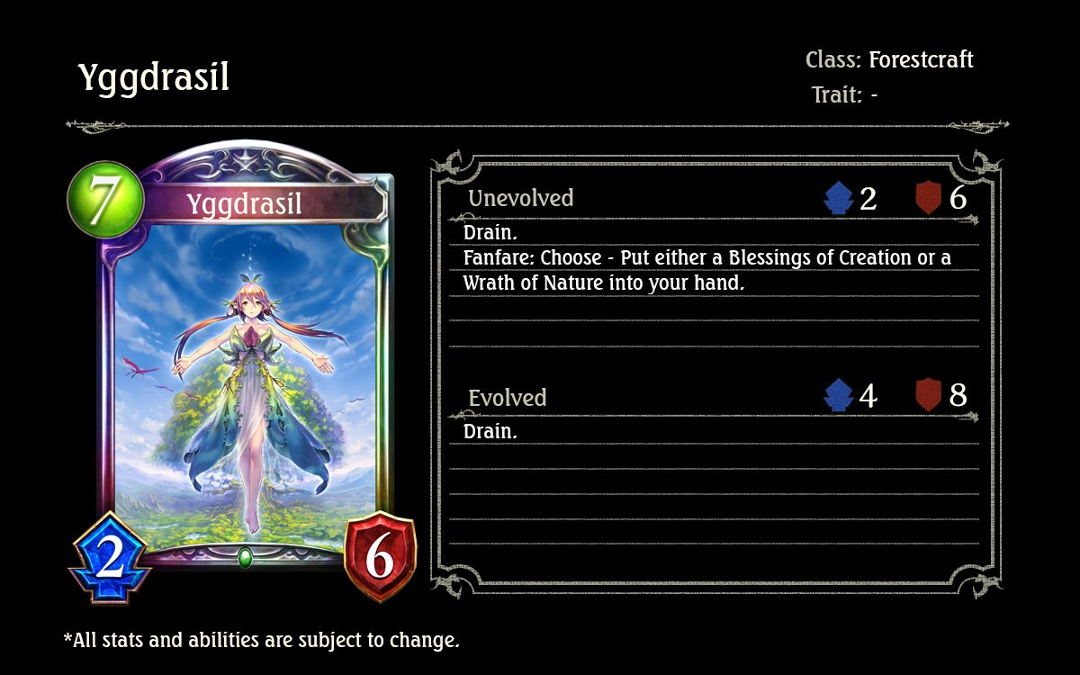 Image result for yggdrasil shadowverse
