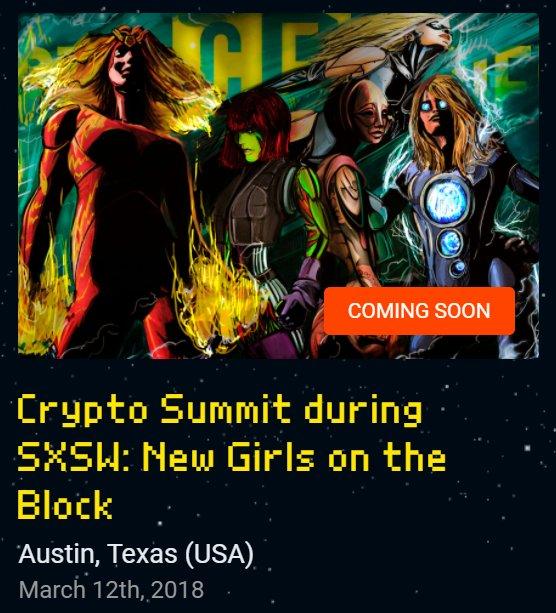 🦄Honored & excited to speak on panel w/ OG #Satoshes 💃 at the #CryptoSummit @ #SXSW March 12, 5PM 🌈💃cryptofriends.io 💟💫@cecilebaird @JessVerSteeg @CryptoDaria @EmperessZhenka @KateGardiner @DanielleScorp #SXSW2018 #crypto #blockchain @cryptofriendsio