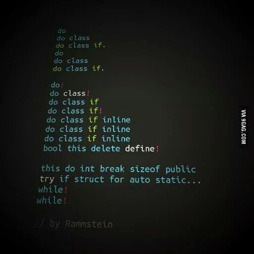 Si Rammstein escribiera código...... htt...