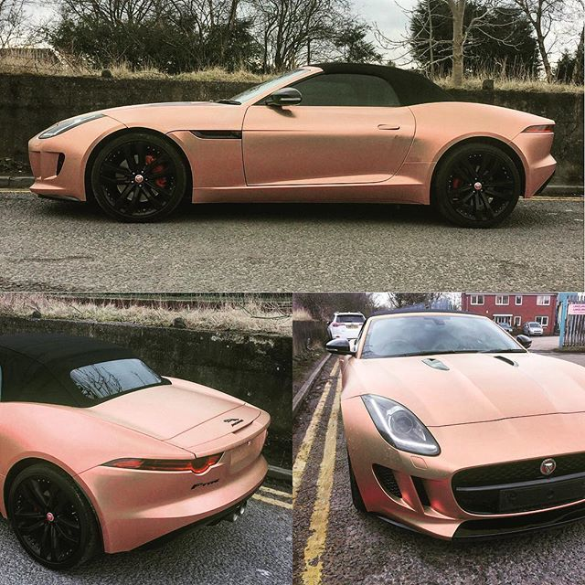 Wrapvehicles Co Uk On Twitter Satin Rose Gold Chrome Wrap On A