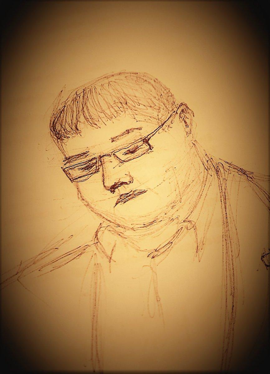 @VDKkomisija @universitatelv @LZA_LV @Mkaprans @ilmarmors @ijabs @bonisdauksts @Tapensa @ARuhocka @Kristine_Lind Withe complimentary drawings of suspected historian @Kulykim from the court hall (Society of Latvians of the Riga) by @Kristine_Lind...