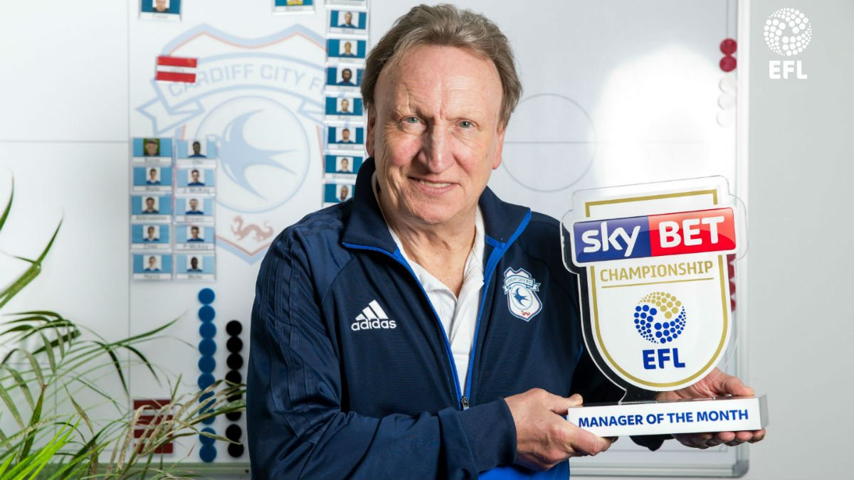 Unbeaten in February 16 points from 18 2 goals conceded @CardiffCityFC reclaim 2nd place Neil Warnock is @SkyBetChamp Manager of the Month >> po.st/FebCHMOTM