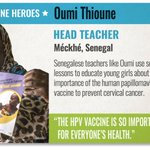 We know there are so many amazing women helping #VaccinesWork, but we don't always hear about them. Teacher Oumi in #Senegal 🇸🇳 uses school lessons to educate about the importance of the HPV vaccine to prevent cervical cancer!  https://t.co/TpawToDkAH  #VaccineHeroes #TimeIsNow