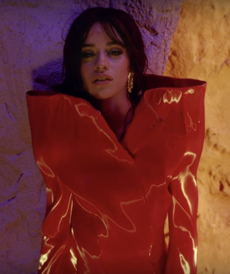 In the new video for #NeverBeTheSame why is @Camila_Cabello wearing a #ChristmasCracker 🤔 #Festive 🎄  DPT x