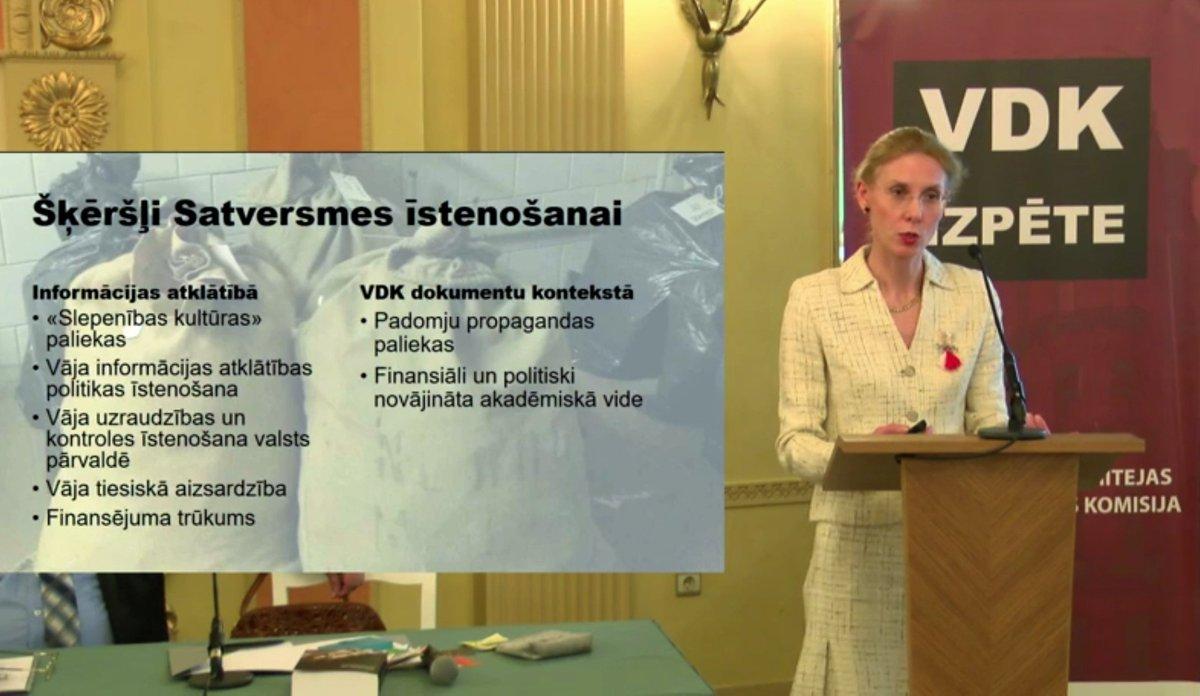 Kristīne Jarinovska: «Latvija politiski joprojām daļēji dzīvo no padomju režīma mantotajā slepenības kultūrā.» Skaties starptautiskās vēstures konferences «TĪKLS» tiešraidi: lu.lv/tiesraide/2/nc/