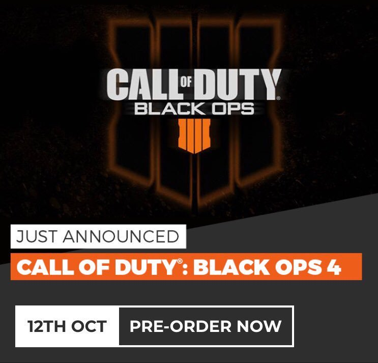 #CallOfDutyBlackOps4 is now available to preorder in store 😱 Elite members get 50% more on their trade ins when they place a preorder so bring those old games in!! 12th of October can't come soon enough 😍 https://t.co/XKfjmqO6aH