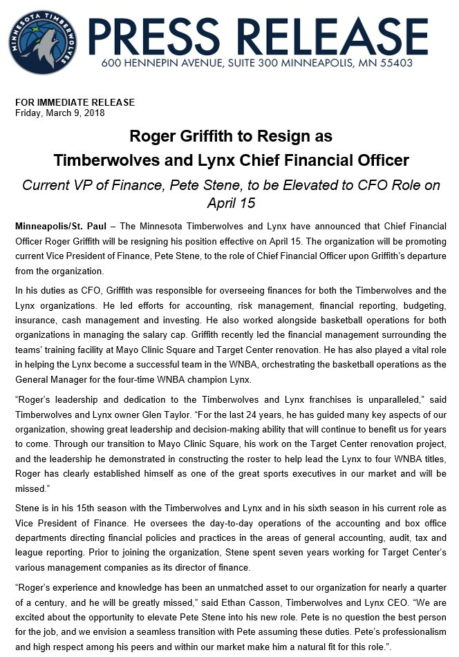 press release about sudden cfo vacancy Sign up for the cfo's weekly newsletter press release there is no legal entity named the florida department of financial restitution citizens who were contacted by the scam and asked to pay $600 to recover unclaimed property actually had no unclaimed property being held by the department.