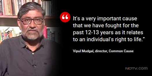 #Euthanasia | Vipul Mudgal, director, Common Cause on @LRC_NDTV