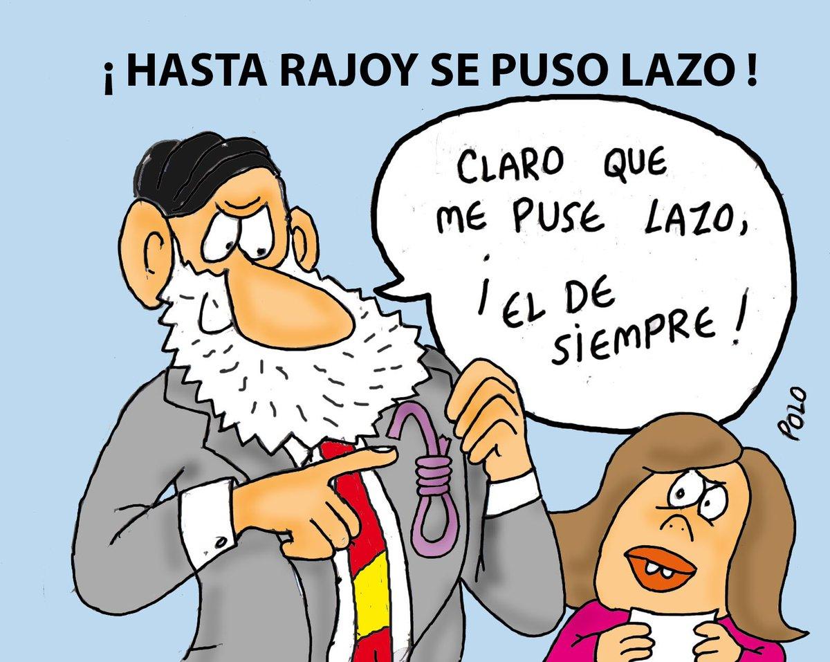 """La viñeta de hoy...""""El lazo de Rajoy"""" @Laenca00 @Famelica_legion @belkike @SanderLadetu"""