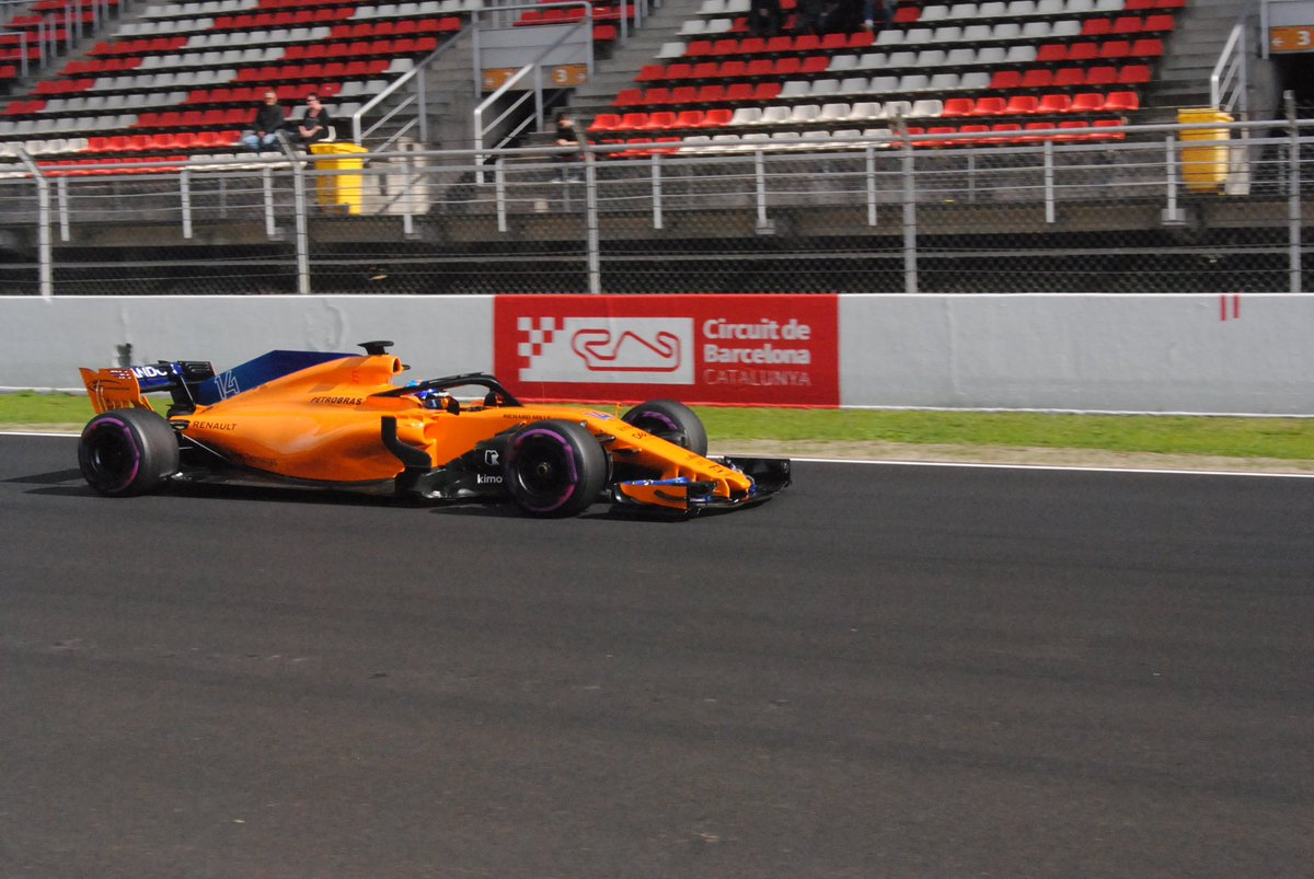 Fernando Alonso... is back at #F1Testing...