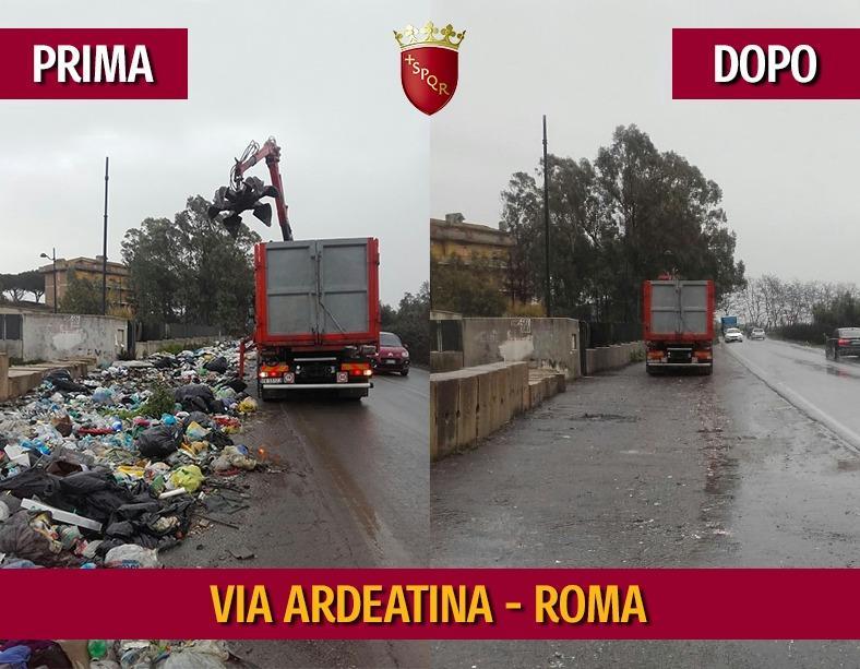Rimosse oltre 40 tonnellate rifiuti indifferenziati abbandonati illecitamente lungo via Ardeatina. Ama invierà nell'area agenti accertatori per sanzionare questi comportamenti scorretti che non fanno bene alla nostra città. Insieme possiamo cambiare @Roma: goo.gl/DQ4fqM