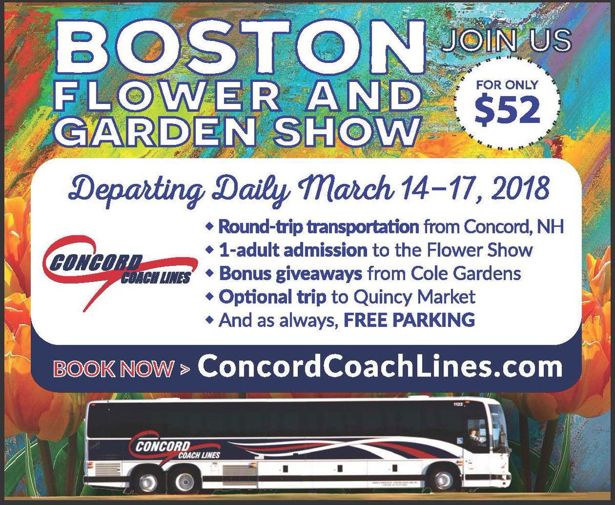 Concord Trailways Boston Flower Show