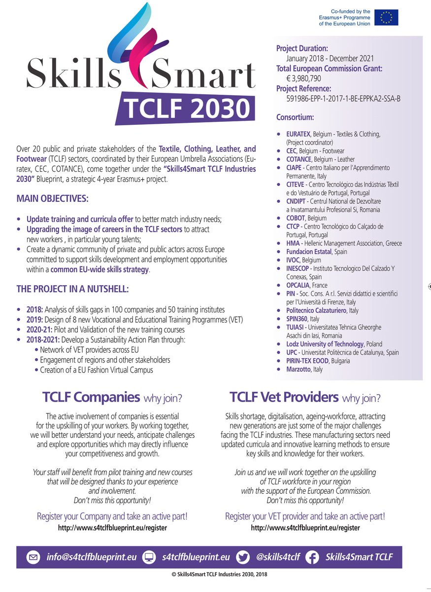 Cotance on twitter do you know skills4tclf blueprint cotance cotance is partner of this ambitious 4 year euerasmusplus project tclf industries aim at reducing skillsgaps and enhancing training attracting new malvernweather Choice Image