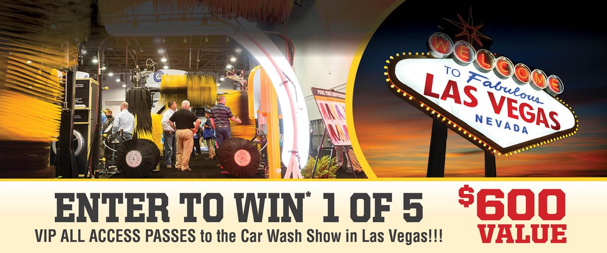 MacNeil Wash On Twitter Enter For A Chance To Win Of VIP All - Car wash show las vegas 2018