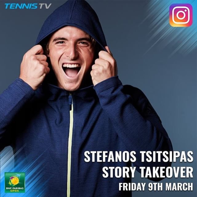 Stefanos Tsitsipas On Twitter Check Out My Day Here At The Bnpparibasopen From The Tennistv Instagram Story Hope You Enjoy It