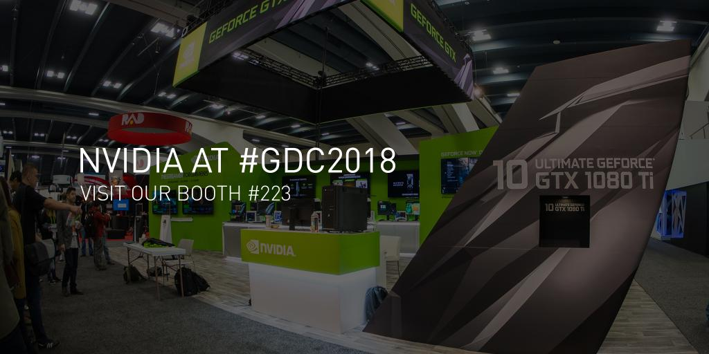 Meet NVIDIA at #GDC18 where we will be featuring the very latest in graphics tools and technology to discussing how #AI is revolutionizing everything from self-driving cars to game development: nvda.ws/2p3dRbg