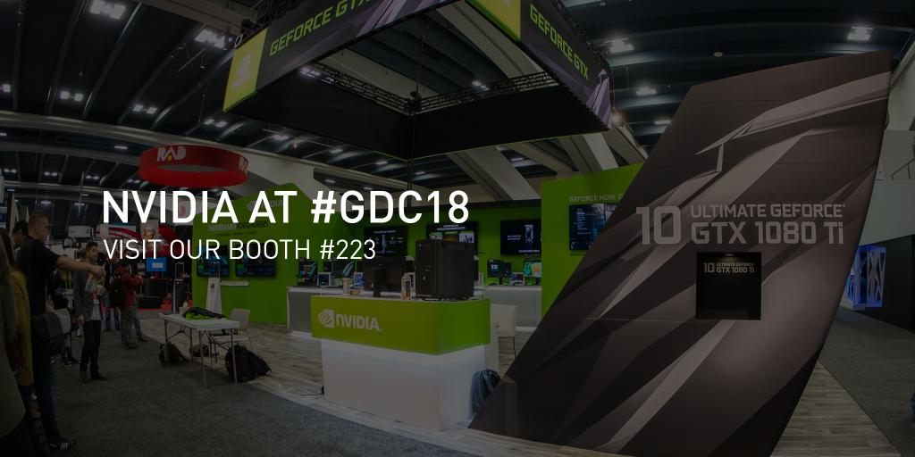 Meet NVIDIA at #GDC18 where we will be featuring the very latest in graphics tools and technology to discussing how #AI is revolutionizing everything from self-driving cars to game development: nvda.ws/2GcYdlK