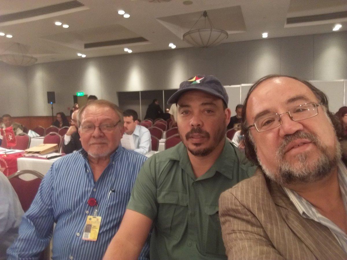Con el cro @MonsantoPablo y el cro Pablo Soto de Convergencia de Guatemala en el Seminario Internacional organizado por el PT de México