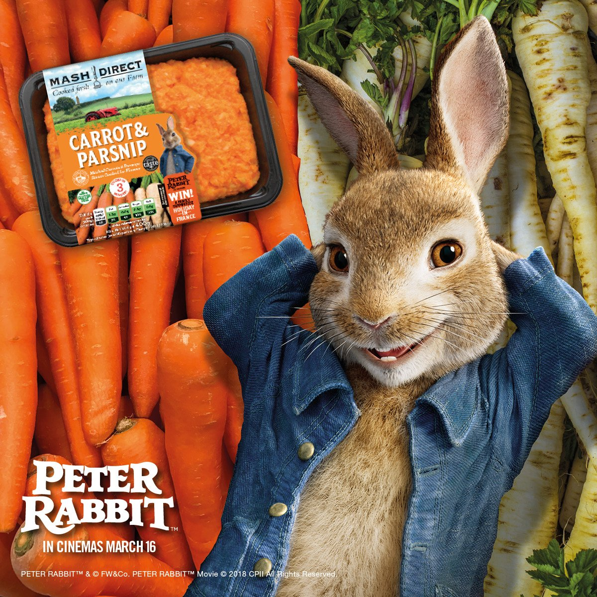 Peter Rabbit 🐰 🥕 has been causing mischief on our Farm! 🚜 Look out for our Peter Rabbit packs for the chance to 🎉 #WIN a Family Farmhouse Holiday in France! 🎉 Pick up a packet and enter our #Competition now https://t.co/20kAfGO34w    🐰 🥕 #peterrabbitmovie