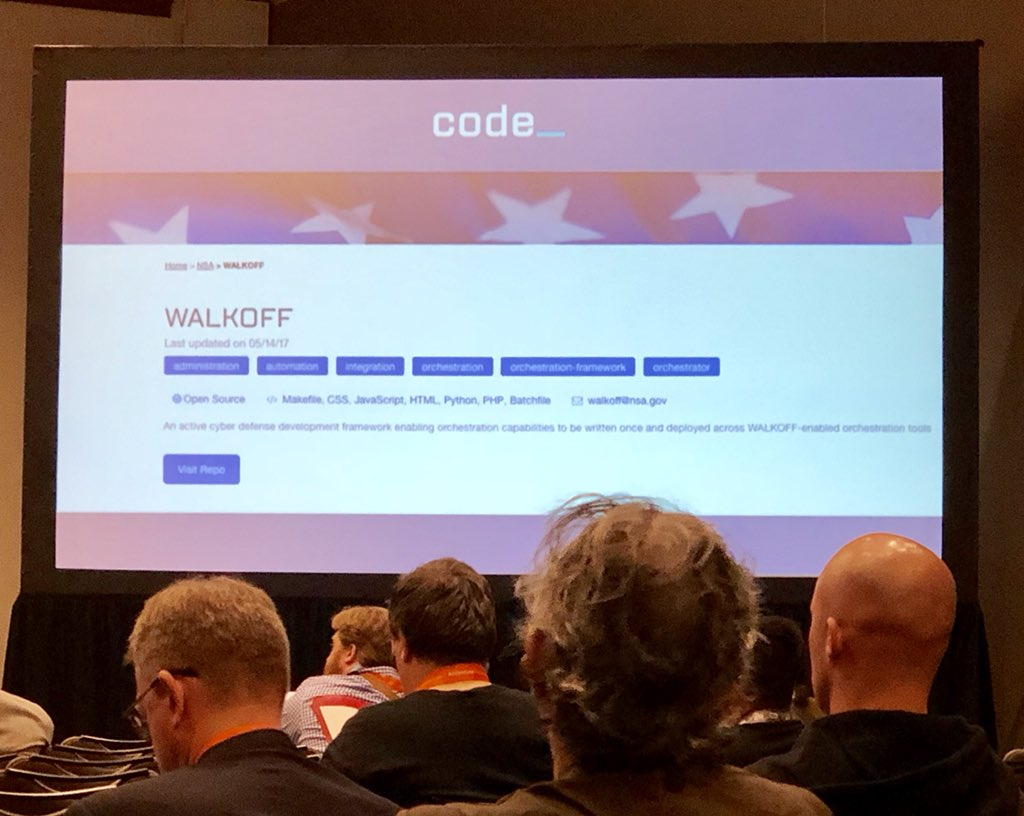 "If you're in this morning's ""Open Sourcing Government Code"" panel you'll see several open source projects from @NSAgov highlighted by @CodeDotGov's @AlvandSalehi #sxsw2018"