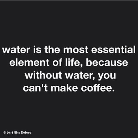 WATER...💦 IT IS ESSENTIAL☕️  😂 #1stWorld...