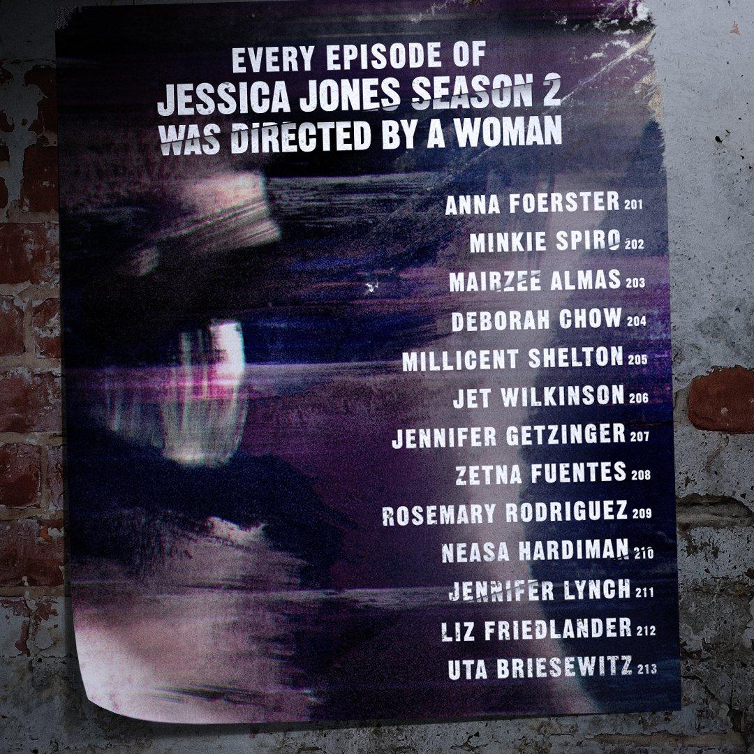 Every episode of #JessicaJones Season 2...