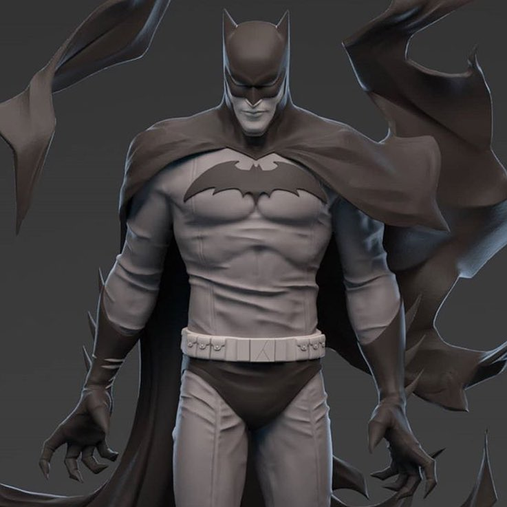 These peeks at my Batman B&W statue are insane!!! Masterfully sculpted by Irene Matar, I can't even believe it ???? https://t.co/bvQ5en1xtX