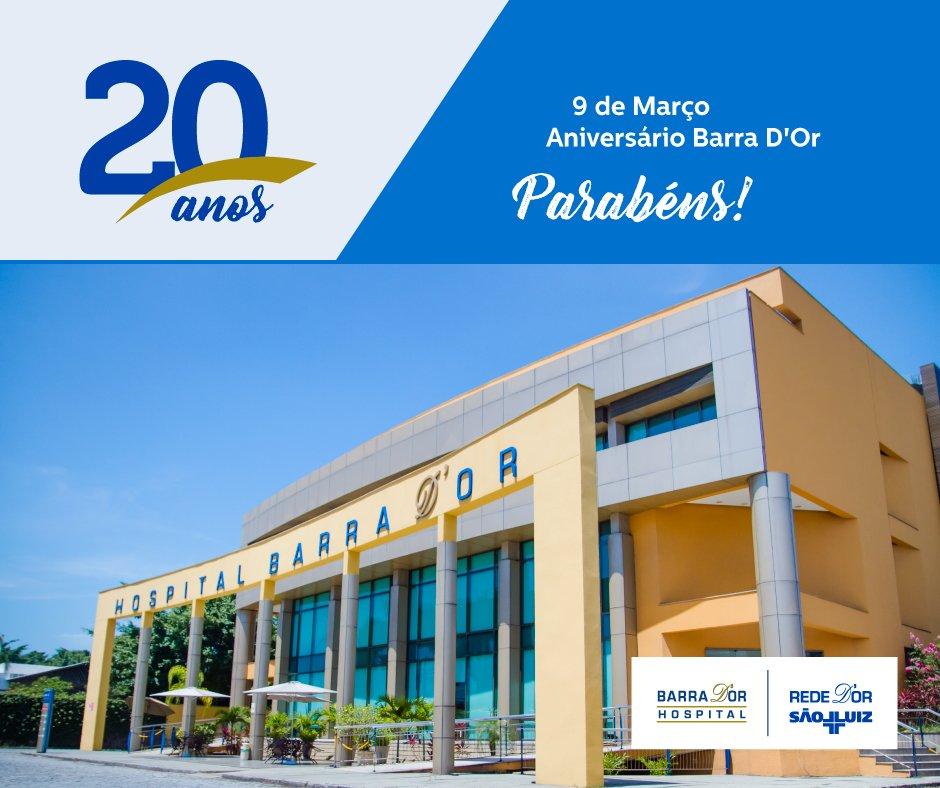 O Hospital Barra D'Or completa 20 anos oferecendo seus serviços com a qualidade que você e sua família merecem!