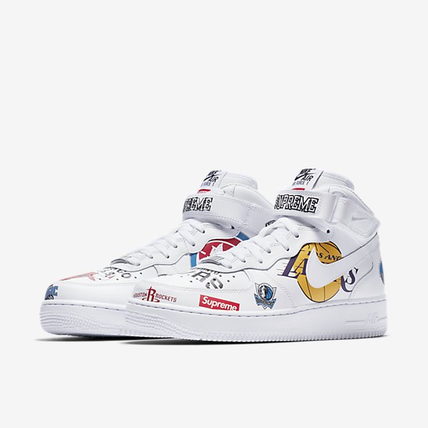 Air Force 1 Mid Supremi Centri Bianchi Nba eXqp1TZyF9
