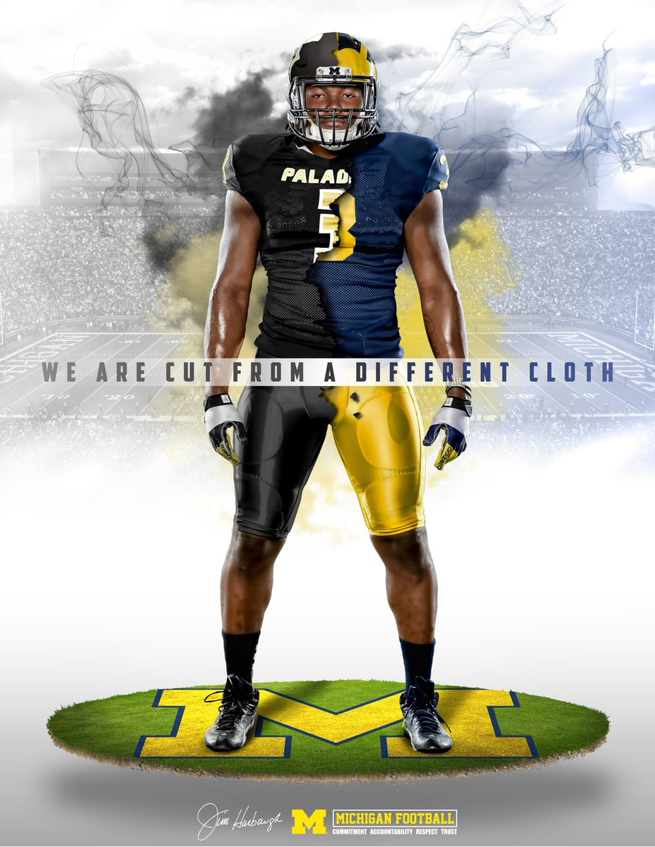 #FlashbackFriday: Some designs we sent to @RashanAGary during his recruitment process! #GoBlue #CutFromADifferentCloth